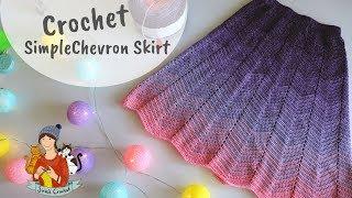Crochet Chevron Skirt