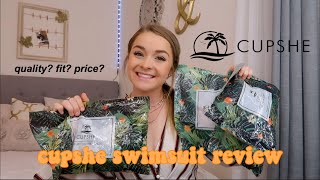 CUPSHE SWIMSUIT REVIEW | quality? fit? price?