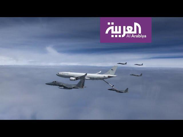 أسطول سعودي يزود المقاتلات في اليمن بالوقود جوا