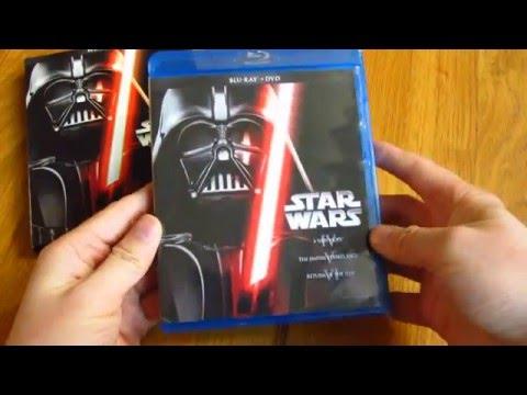 Star Wars Blu-Ray DVD Set Unboxing Original Trilogy