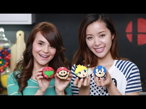 SUPER SMASH BROS CUPCAKES ft. Michelle Phan – NERDY NUMMIES