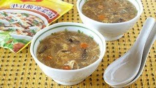 美極 港式酸辣濃湯 Maggi Hong Kong Style Hot and Sour Soup (Souvenir Recipe) マギー 香港風(広東風)サンラータンの作り方 (お土産レシピ)
