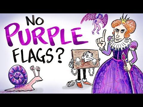 Proč není na vlajkách fialová barva?