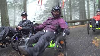 Catrike 2000 foot fast descent -RecumbentPDX Flies Down Mt. Constitution