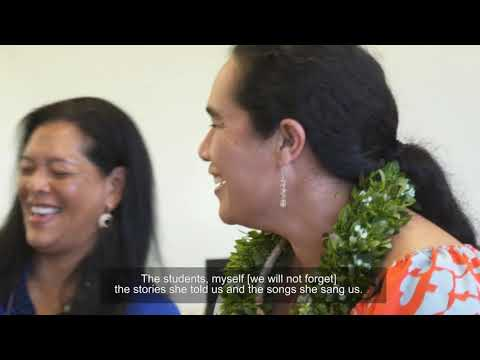 Artist in Community: Kainani Kahaunaele & Immersion students at King Kekaulike High School