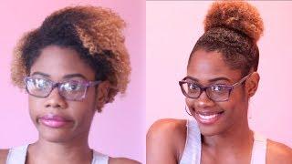 Sleek High Bun Trick For Short Natural Hair!