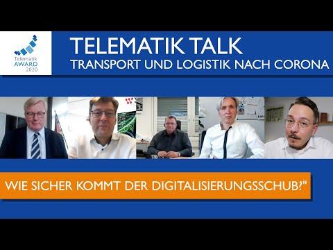 """Der #TelematikTalk greift das Thema """"Transport und Logistik nach Corona"""" auf."""
