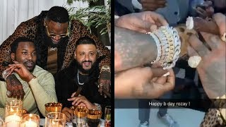 Rick Ross Throws Birthday Party At His $6 Million Dollar Mansion + Meek Mill Gives Diamond Bracelet