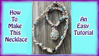 How To Make A Macrame Necklace And Attach Your Pendant