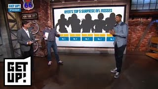 Ryen Russillo's top 5 list of surprise NFL misses | Get Up! | ESPN