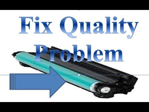 HP LaserJet Pro CP1025nw Color Printer fix print quality not good