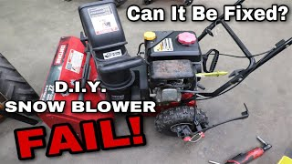 D.I.Y. Snow Blower FAIL! Can It Be Fixed??