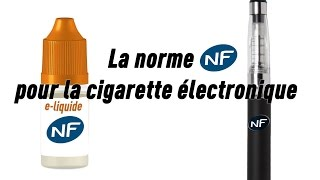 Une norme pour la cigarette électronique