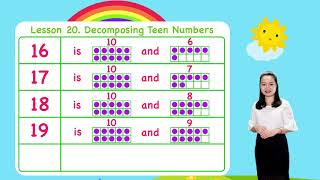 Math For Kids - Lesson 20. Decomposing Teen Numbers For Kids   Kindergarten