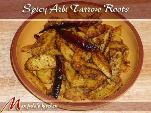 Stir Fry Arbi (Taro Root) Recipe by Manjula