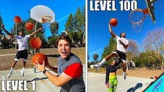 ALLEY OOP SLAM DUNKS From Level 1 To Level 100! Ft. Chris Staples