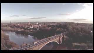 preview picture of video 'Chester Racecourse & Grosvenor Bridge - Aerial Footage'