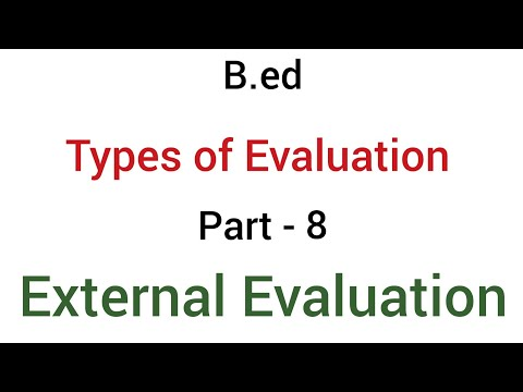 Part - 8 external evaluation | types of evaluation | b.ed