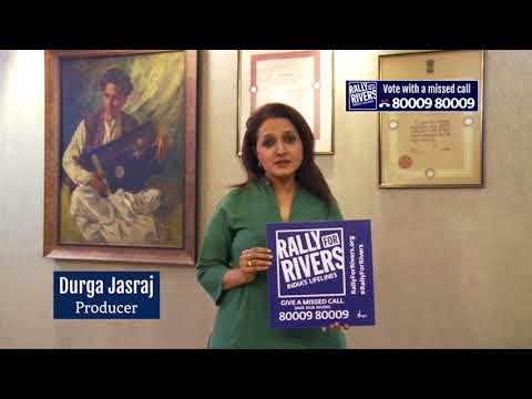 Durga Das for Rally for Rivers