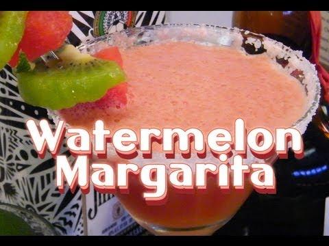 Video Watermelon Margarita Recipe - Watermelon Drink Recipes - TheFNDC.com
