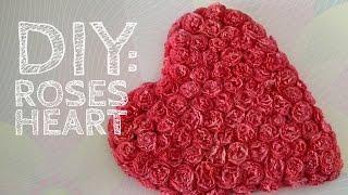 DIY: Сердце из роз для фотосессии