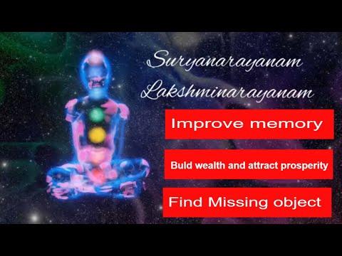 suryanarayanam lakshminarayanam more than 5000 times subliminal chanting