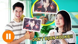 BOYFRIEND TRIED TO BURN BTS?? ❰ THE 24H PAUSE CHALLENGE ❱ | MiniMoochi