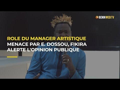Bénin - Rôle du manager artistique : menacé par Eusèbe Dossou, Fikira alerte l'opinion publique