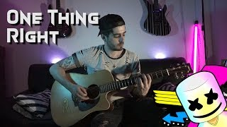 Marshmello   One Thing Right (ft. Kane Brown) Guitar Cover By Teva