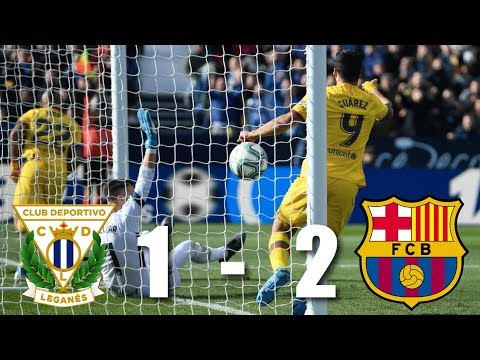 Leganes Vs Barcelona 1-2 LA Liga 2019 Goals Highlight