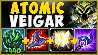 100 TO 0 *ANY* ENEMY WITH THIS ATOMIC VEIGAR BUILD! VEIGAR S10 TOP GAMEPLAY! - League of Legends