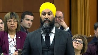 Jagmeet Singh's first question period exchange with PM Trudeau