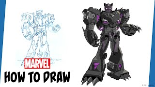 Marvel's Avengers: Mech Strike | How to Draw Black Panther