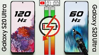 120 Hz vs 60 Hz Battery Test