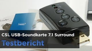 CSL - USB 7.1 Soundkarte im Test - Expermiment, Tonvergleich