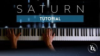 SATURN   Sleeping At Last | Piano Tutorial (Synthesia)