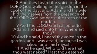 Genesis 3 (KJV AUDIO/VIDEO)