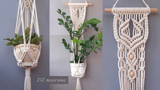 How To Make Macrame Plant Hanger. Beautiful Macrame Wall Hanging Tutorial. DIY Gift For Mothers Day