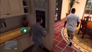 GTA 5 - Franklin Visits Michael's House