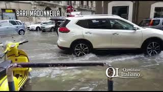 Bari, case e negozi allagati: disagi al San Paolo, Madonnella e Libertà