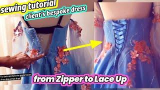 How To Sew ~ From Zipper To Lace Up  ~ Prom Dress ~ Como Fazer Um Vestido ~ как сделать платье