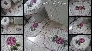 Flores para tapetes em crochê