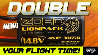DOUBLE YOUR FLIGHT TIME! - 'NEW ZOHD 4S 18650 LI-ION Battery Packs