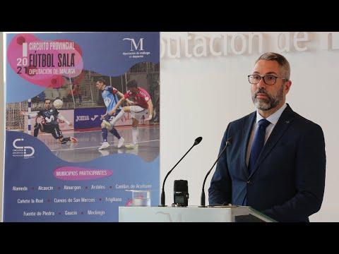 Presentación del I Circuito Provincial de Fútbol Sala Diputación de Málaga 2021
