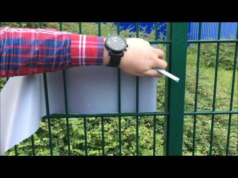 Sichtschutzstreifen Montage Kurzanleitung