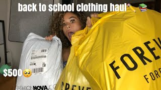 BACK TO SCHOOL TRY-ON HAUL   Fashion Nova, Forever 21+ More