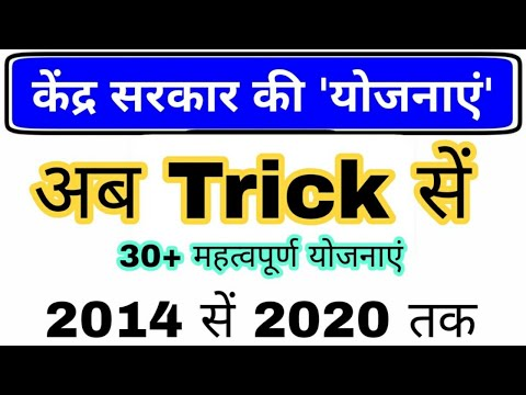 केंद्र सरकार की योजनाएं Trick   Central Government Scheme   All Yojana Current affairs 2021