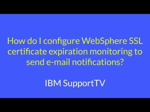 How do I configure WebSphere SSL certificate expiration monitoring ...