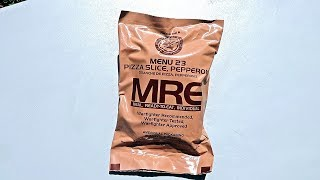 Tasting US Military Pizza MRE (Meal Ready to Eat)