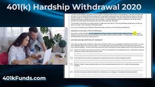 401k Hardship Withdrawal 2020